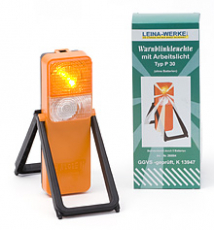 LEINA - Warnblinkleuchte Typ P30, orange, in Faltschachtel