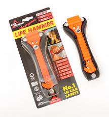 LEINA - Life-Hammer, orange, in Blisterpackung
