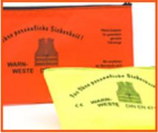 Pannen-Warnweste orange in Tasche