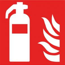 Brandschutzzeichen Feuerlöscher, F001, Kunststoff, 200 x 200 mm
