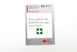 LEINA -59011 Verbandbuch weiß-grau DIN A5 BGI 511-1