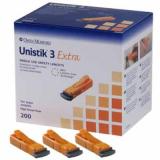 Sicherheitslanzette Unistik 3 orange 21G, Tiefe 2,0 mm