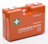 LEINA - Feuerwehr Verbandkoffer DIN 14142, Kunststoff, orange