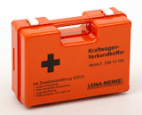 LEINA - GGVS-Gefahrgutkoffer DIN 13164, Kunststoff, orange gefüllt