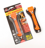 LEINA - Life-Hammer, orange, in Blisterpackung
