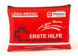 LEINA - Mobiles Erste-Hilfe-Set, rote Nylontasche