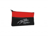 LEINA - Mini-Verbandtasche, schwarz-rote Nylontasche