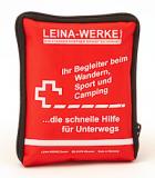 LEINA - Verbandtasche Reise-Set, rote Nylontasche