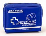 LEINA - Erste-Hilfe-Set für Haustiere, Nylontasche, ROT