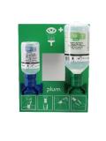 Wandstation mit 1 x 200 ml ph Neutral und 1 x 500 ml Plum Augenspüllösung