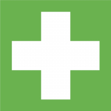 Rettungszeichen Erste Hilfe, E003, Kunststoff, langnachleuchtend, 200 x 200 mm